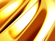 Golden silk cloth glossy waves luxury background Royalty Free Stock Image