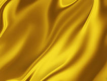 Golden silk Stock Image