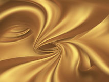 Golden silk Royalty Free Stock Photo