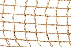 Golden silk net from threads. Royalty Free Stock Image