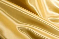 Golden silk Royalty Free Stock Image