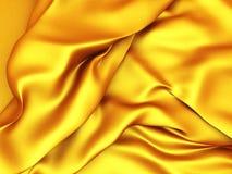 Golden silk satin cloth folds background Stock Images