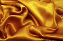 Golden silk textile Royalty Free Stock Image