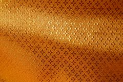 Golden Silk Texture Background Stock Images