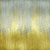 Golden and silver aluminum. Halftone golden and silver aluminum texture Stock Photo