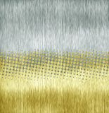 Golden and silver aluminum. Halftone golden and silver aluminum texture Stock Photos