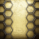 Golden and silver background Royalty Free Stock Photography