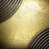 Golden and silver background Stock Photography