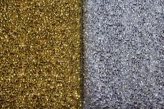Golden and silver background texture Stock Image