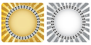 Golden and silver banner Royalty Free Stock Images