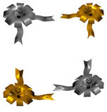 Golden silver bow Stock Images