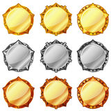 Golden, silver and bronze medals Royalty Free Stock Photography