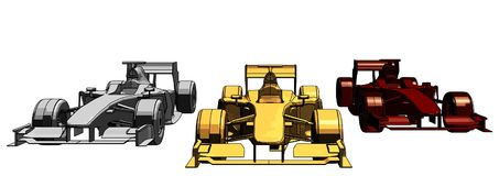 Golden Silver Bronze Race Car Vector 11 Royalty Free Stock Images