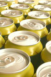 Golden and silver cans. All around royalty free stock photo