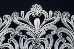 Golden and silver filigree Stock Images