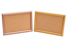Golden and silver frame Royalty Free Stock Photo