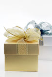 Golden & Silver gift box Royalty Free Stock Images