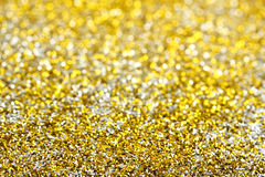 Golden and silver glitter Stock Image