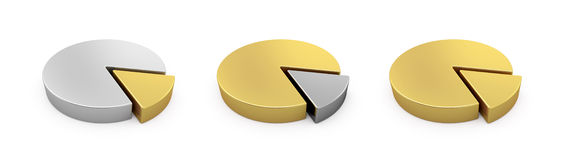 Golden and silver graphs Royalty Free Stock Photography