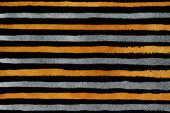 Golden and silver grunge stripe pattern. Stock Image