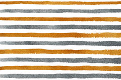 Golden and silver grunge stripe pattern. Royalty Free Stock Images