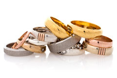 Golden and silver  jewelry Royalty Free Stock Photography