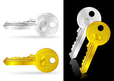 Golden and Silver Key Stock Images