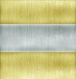 Golden and silver  metal Stock Photos