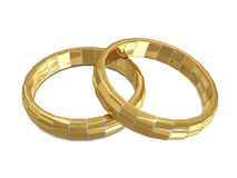 Golden - silver rings Royalty Free Stock Image