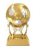 Golden - silver soccer trophy Royalty Free Stock Photos