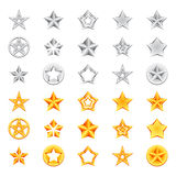 Golden and Silver Stars Royalty Free Stock Photography