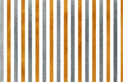 Golden and silver striped background. Stock Photo
