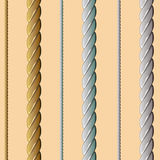 Golden, silver, white rope, seamless pattern Royalty Free Stock Images