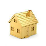 Golden simple house Royalty Free Stock Images