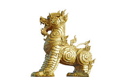 Golden Singha lion Royalty Free Stock Images