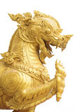 Golden singha lion statue Royalty Free Stock Photos