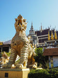 GOLDEN SINGHA IN PHRAE Royalty Free Stock Photography