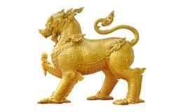 Golden singha on white background Royalty Free Stock Photo