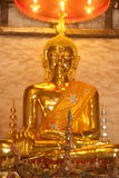 Golden sitting Buddha . Royalty Free Stock Photo
