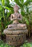 Golden sitting buddha Royalty Free Stock Photo