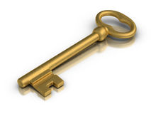 Golden Skeleton Key Royalty Free Stock Photos