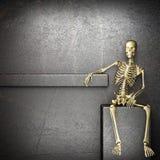 Golden skeleton Stock Photo