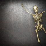 Golden skeleton Stock Photo
