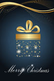 Golden sketchy christmas card Stock Images