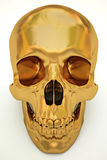 Golden skull Stock Photos