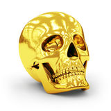 Golden skull Stock Photography