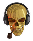 Golden Skull Royalty Free Stock Photo