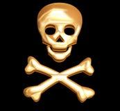 Golden skull royalty free stock images