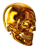 Golden Skull Royalty Free Stock Photos