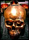 Golden skull Royalty Free Stock Images